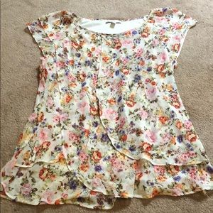 Floral Dress Barn blouse (L)